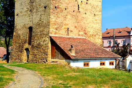 Medieval fortified saxon church Saschiz Keisd, Transylvania. The fortified church is a church in Keisd Wurmloch in the Transylvania region of Romania. It was built by the ethnic German Transylvanian Saxon community. Together with the surrounding village,