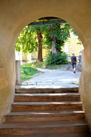biertan: Inside the  Fortified medieval church Biertan, Transylvania. Biertan is one of the most important Saxon villages with fortified churches in Transylvania, having been on the list of UNESCO World Heritage Sites since 1993. The Biertan fortified church was t