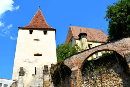unesco: Fortified medieval church Biertan, Transylvania. Biertan is one of the most important Saxon villages with fortified churches in Transylvania, having been on the list of UNESCO World Heritage Sites since 1993. The Biertan fortified church was the see of th Stock Photo