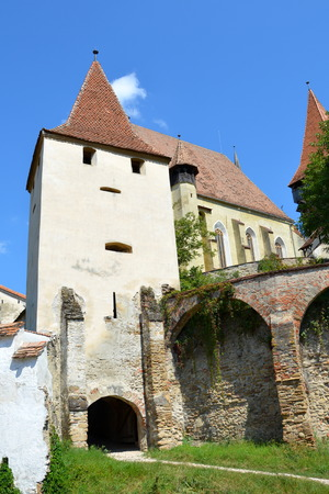 biertan: Fortified medieval church Biertan, Transylvania. Biertan is one of the most important Saxon villages with fortified churches in Transylvania, having been on the list of UNESCO World Heritage Sites since 1993. The Biertan fortified church was the see of th Editorial