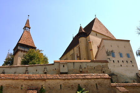Fortified medieval church Biertan, Transylvania. Biertan is one of the most important Saxon villages with fortified churches in Transylvania, having been on the list of UNESCO World Heritage Sites since 1993. The Biertan fortified church was the see of th Editorial