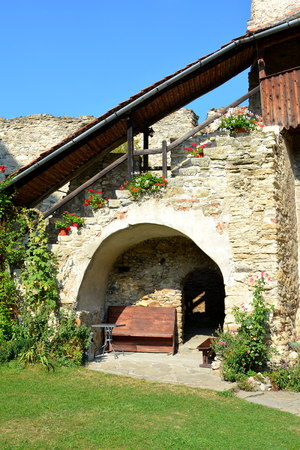 resid: Courtyard of the medieval fortified saxon church in Calnic, Transylvania Câlnic village is known for its castle, which is on UNESCOs list of World Heritage Sites. Câlnic Citadel, first mentioned in 1269, is very well preserved. Built as a nobles resid