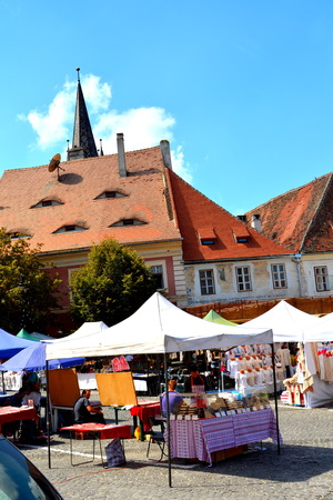 Matket Square. Typical urban landscape in the city Sibiu, Transylvania Sibiu is one of the most important cultural centres of Romania and was designated the European Capital of Culture for the year 2007, along with the city of Luxembourg.