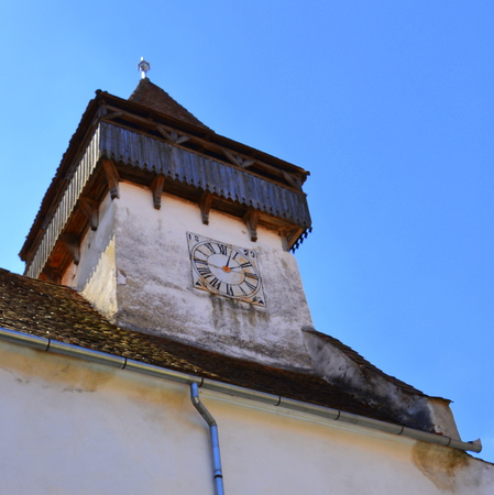 Fortified medieval saxon church Ghimbav, Transylvania The town was first mentioned in a letter written in 1420 by King Sigismund of Luxembourg. The local church and the bell tower were built around 1300. In the 15th century a fortress was built around the
