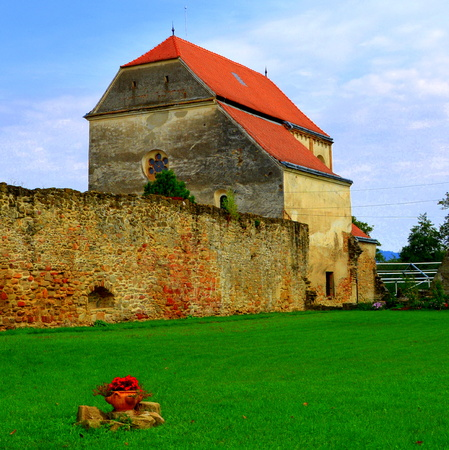 Ruins of medieval cistercian abbey in Transylvania. Inside the church of Carta medieval monastery near Sibiu, Transilvania Câr?a Monastery is a former Cistercian (Benedictine) monastery in the ?ara F?g?ra?ului region in southern Transylvania in Romania, c