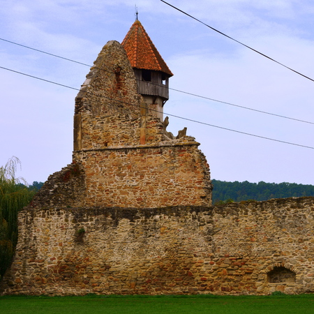 abbey ruins abbey: Ruins of medieval cistercian abbey in Transylvania. Inside the church of Carta medieval monastery near Sibiu, Transilvania C�r?a Monastery is a former Cistercian (Benedictine) monastery in the ?ara F?g?ra?ului region in southern Transylvania in Romania, c