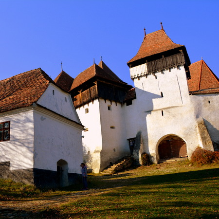 Medieval fortified church. Viscri is known for his fortified church. The fortified church in this village was built around 1100 AD. It is part of a area if villages with fortified churches in Transylvania, designated in 1993 as a World Heritage Site by UN Editorial