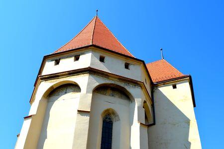 burg: Medieval fortified saxon church Saschiz Keisd, Transylvania.