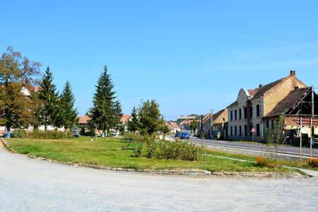 main entrance: Typical landscape in the village Saschiz.