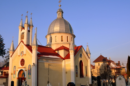 Orthodox church. Typical urban landscape of the city Brasov, Transylvania Brasov is a town situated in Transylvania, Romania, in the center of the country. 300.000 inhabitants.