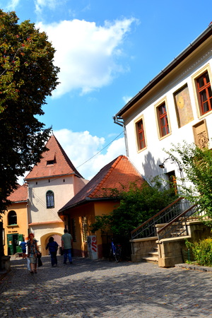 water mill: Typical urban landscape in the city Sibiu, Transylvania Sibiu is one of the most important cultural centres of Romania and was designated the European Capital of Culture for the year 2007, along with the city of Luxembourg. Editorial