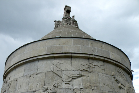 constantin: Memorial from the WWI.   In 1917 during World War I, the Battle of M�r��e�ti between the Kingdom of Romania and the German Empire was fought near the town. A mausoleum containing the remains of 5,073 Romanian soldiers was built to commemor
