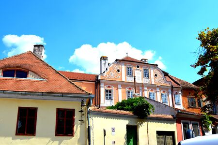 Typical urban landscape in the city Sibiu, Transylvania Sibiu is one of the most important cultural centres of Romania and was designated the European Capital of Culture for the year 2007, along with the city of Luxembourg. Stock Photo