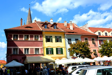 Typical urban landscape in the city Sibiu, Transylvania Sibiu is one of the most important cultural centres of Romania and was designated the European Capital of Culture for the year 2007, along with the city of Luxembourg. Editorial