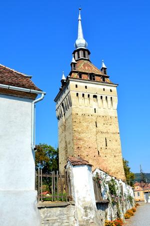biertan: Tower. Medieval fortified saxon church Saschiz Keisd, Transylvania Editorial