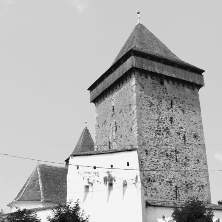 fortified: Fortified saxon medieval church Homorod, Transylvania  The villagers started building a single-nave Romanesque church, which is uncommon for a Saxon church, in the 13th century.