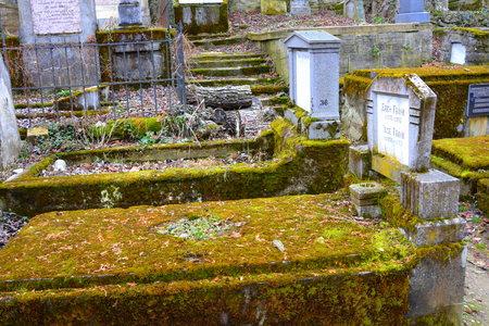 Cemetery. Old medieval saxon lutheran church in Sighisoara, Transylvania, Romania