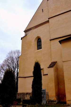 interesting: Inside the Old medieval saxon lutheran church in Sighisoara, Transylvania, Romania