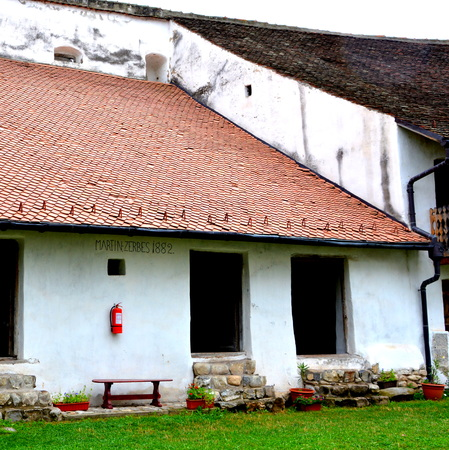 Fortified saxon medieval church Harman, Transylvania The villagers started building a single-nave Romanesque church, which is uncommon for a Saxon church, in the 13th century. They began construction by building the first choir and a semicircular apse, wh