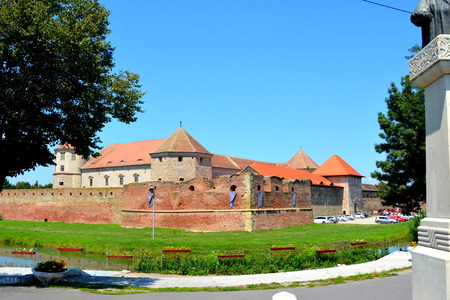 Old medieval fortress in the city Fagaras, an old romanian town with a rich medieval history, situated in the centre of Transylvania, Romania.