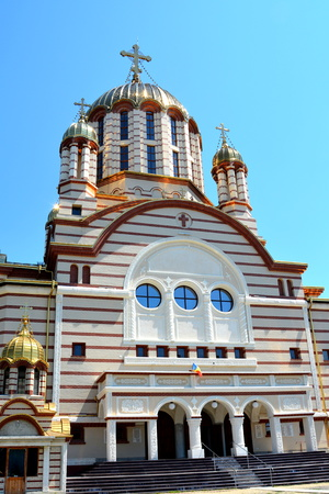 Orthodox Cathedral in the city Fagaras, an old romanian town with a rich medieval history, situated in the centre of Transylvania, Romania.