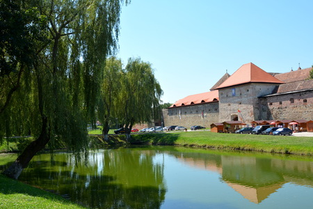 attachment: Old medieval fortress in the city Fagaras, an old romanian town with a rich medieval history, situated in the centre of Transylvania, Romania.