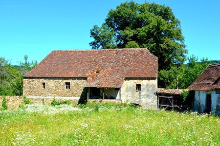 Fortified medieval saxon church in Rodbav-Rohrbach, Brasov county, Transylvania, Romania. Reklamní fotografie