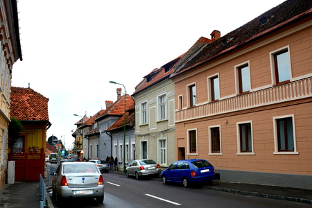 characteristic: Typical urban landscape of the city Brasov, a town situated in Transylvania, Romania, in the center of the country. 300.000 inhabitants. Editorial