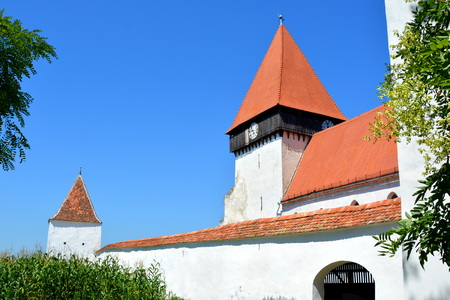 Fortified medieval saxon church in the village Merghindeal- Mergenthal, Transylvania,Romania The settlement was for the first time certified in 1336, but the fortified church dates back to the second half of the 13th century