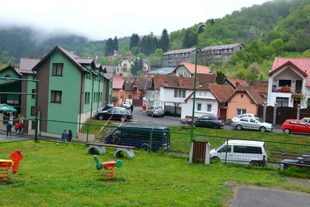 Typical urban landscape of the city Brasov, a town situated in Transylvania, Romania, in the center of the country. 300.000 inhabitants. Editorial