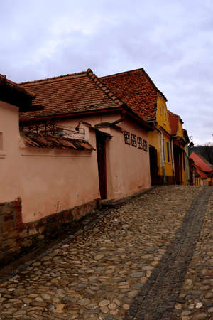 Medieval city Sighisoara. Urban landscape in the downtown of the medieval city Sighisoara, Transylvania