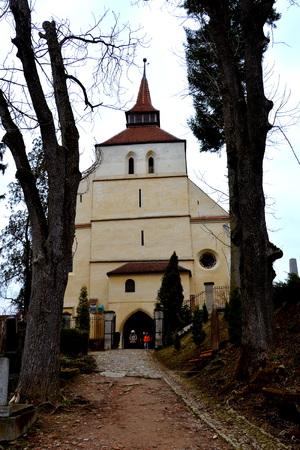 transylvania: Old medieval saxon lutheran church in Sighisoara, Transylvania, Romania Stock Photo