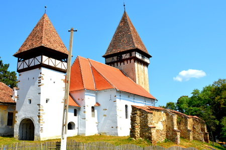 Fortified medieval saxon evanghelical church in the village Veseud, Zied is a village in the commune Chirpăr from Sibiu County, Transylvania, Romania, first attested in 1379