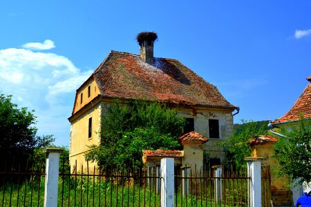 Typical rural landscape in the village Vard. V?rd,Wierd, Viert is a saxon village in the commune Chirp?r from Sibiu County, Transylvania, Romania. Stock Photo
