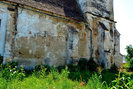 Ruins of the fortified medieval saxon evanghelic church in the village Vard.  V?rd,Wierd, Viert is a saxon village in the commune Chirp?r from Sibiu County, Transylvania, Romania.