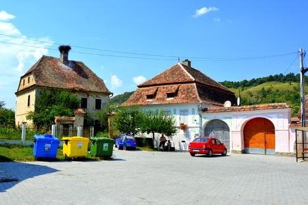 Typical rural landscape in the village Vard. Vărd,Wierd, Viert is a saxon village in the commune Chirpăr from Sibiu County, Transylvania, Romania.
