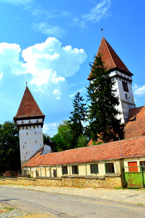 Fortified medieval saxon church in the city Agnita- Agnetheln, mentioned for the first time in a Saxon document from 1280, a town with a craft tradition, renowned by the old German guilds of tanners, shoemakers, tailors, dogars and potters