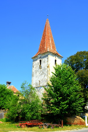 wierd: Ruins. Fortified medieval saxon evangelic church  in V?rd,Wierd, Viert, a saxon village in the commune Chirp?r from Sibiu County, Transylvania, Romania