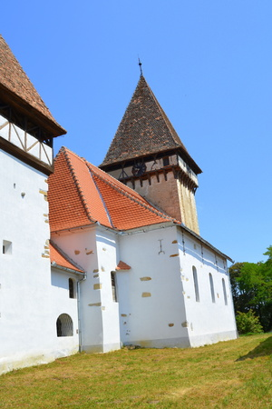 Fortified medieval saxon evangelic church in Veseud, Zied, is a village in the municipality Chirp?r from Sibiu County, Transylvania, Romania, first attested in 1379