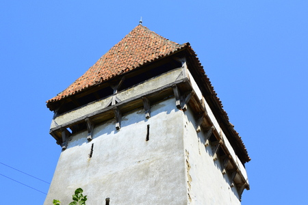 Fortified medieval saxon evangelic church  in Agnita- Agnetheln, mentioned for the first time in a Saxon document from 1280, a town with a craft tradition, renowned by the old German guilds of tanners, shoemakers, tailors, dogars and potters