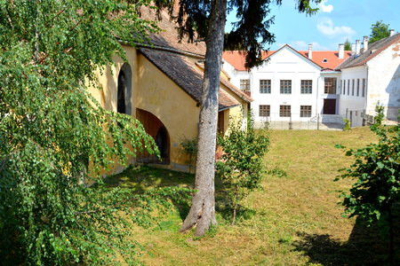 mentioned: Fortified medieval saxon evangelic church  in Agnita- Agnetheln, mentioned for the first time in a Saxon document from 1280, a town with a craft tradition, renowned by the old German guilds of tanners, shoemakers, tailors, dogars and potters