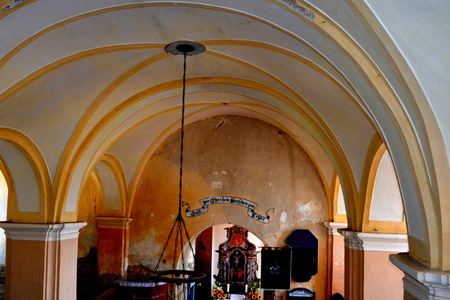 Inside the Fortified medieval saxon evangelic church  in Veseud, Zied, is a village in the commune Chirpăr from Sibiu County, Transylvania, Romania, first attested in 1379