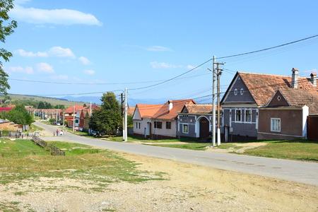 peasant: Typical rural landscape and peasant houses in  the village Ticu?u Vechi, Deutsch-Tekes,  the residence village of Ticu? commune in Bra?ov County, Transylvania, Romania. It is the residence of Ticu?u commune.