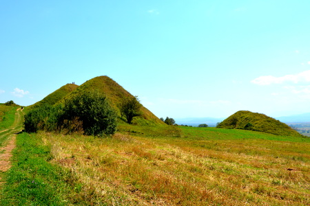 Celtic Tombs in the Transylvanian Plateau, Romania, in the village of Sona, Brasov County