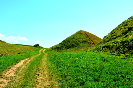 plateau: Celtic Tombs in the Transylvanian Plateau, Romania, in the village of Sona, Brasov County