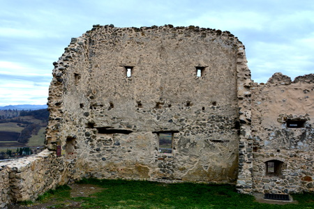 Rupea -Reps - fortress Medieval vestiges. It was Dacian settlement (Rumidava) and later, during the Roman occupation, the name was changed to Rupes (rock or stone - in Latin).
