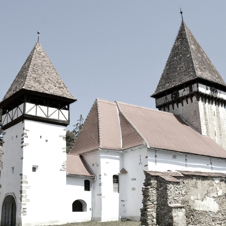 Fortified medieval saxon evangelic church  in Veseud, Zied, is a village in the commune Chirpăr from Sibiu County, Transylvania, Romania, first attested in 1379 Stock fotó