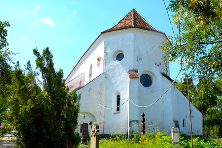 Tower of old medieval saxon evangelic church in Halmeag (Transylvania) In Transylvania there are many saxon churches. This church is 800 years old.