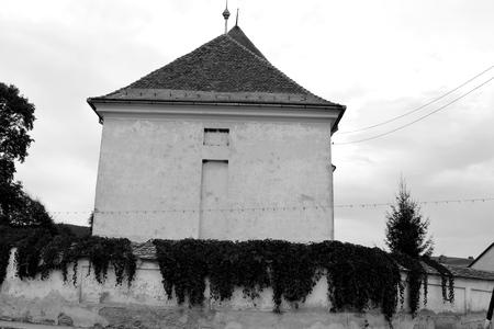 Fortified medieval saxon church in the village Barcut, Bekokten, Brekolten,Transylvania,Romania Stok Fotoğraf