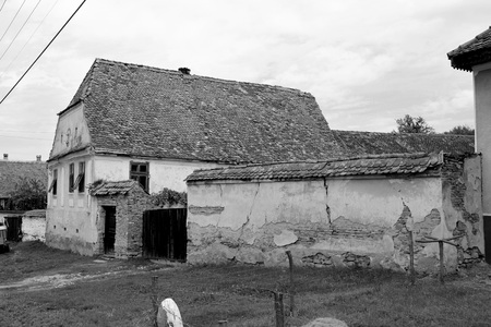 Typical rural landscape and peasant houses in Barcut, Bekokten, Brekolten, Transylvania, Romania. The settlement was founded by the Saxon colonists in the middle of the 12th century Reklamní fotografie